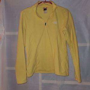 The North Face Pull over Half Zip Jacket Yellow